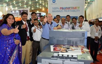 Konica Minolta displays bizhub Presses C1085, C70HC at IIPV Trade Fair, Ahmedabad