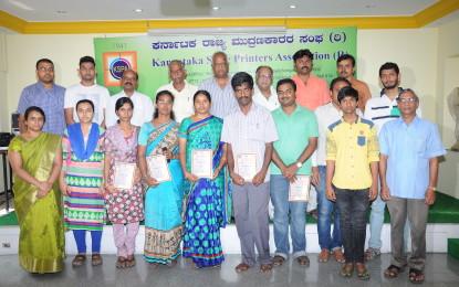 Professional Training by Karnataka State Printers Association