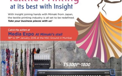 Insight merges with Media Infotech, represents Mimaki at Media Expo'16