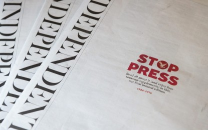The Independent prints its final edition on 26 March