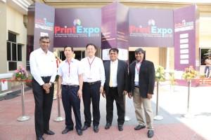 Balaji Rajagopalan,ED, Xerox India (R) at PrintExpo 2016