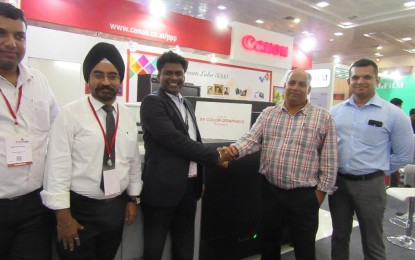 S V Color Graphics of Bengaluru buys the Canon on display at PrintExpo