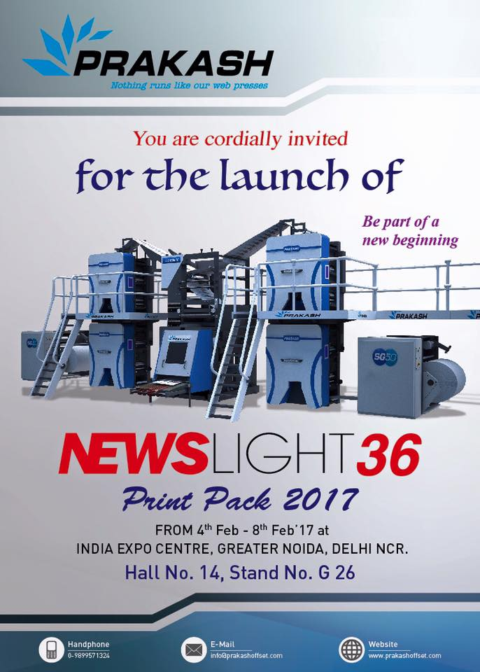 PRESSIdeasPrakash Offset to unveil Newslight 36 at PrintPack