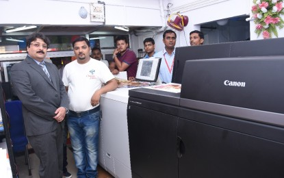 Canon's first imagePRESS C10000VP installed in Allahabad