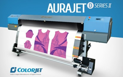 ColorJet launches dye sublimation printer Aurajet at Gartex 2017