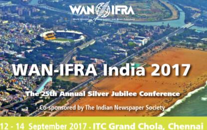 David Callaway to keynote at WAN-IFRA India 2017