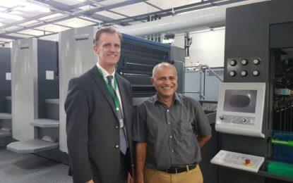 Edelmann installs the longest Heidelberg CX 102 of India