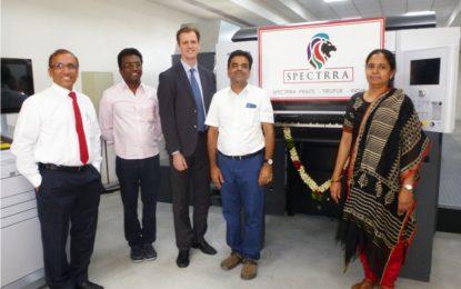 Tiruppur's Spectrra Prints installs Speedmaster XL 75 –Six Colour plus coater