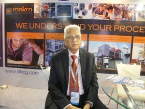 Mr.S.L.Kulkarni at their stall