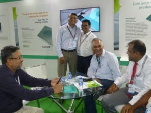 Harshad Borude and Sanjay Malhotra at the Fujifilm stall