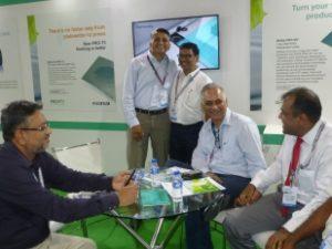 Harshad Borude and Sanjay Malhotra at the Fujifilm stall