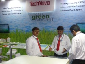 Team Technova at their stall