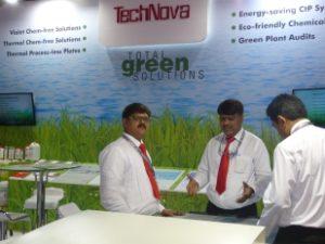 Team Technova at their stall