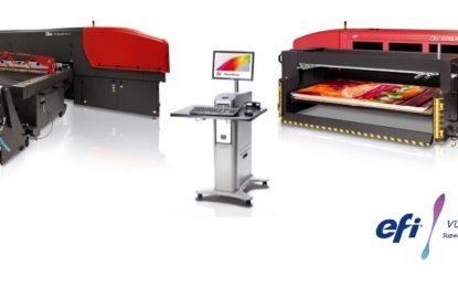 1st European EFI VUTEk HS125 F4 Inkjet press installation