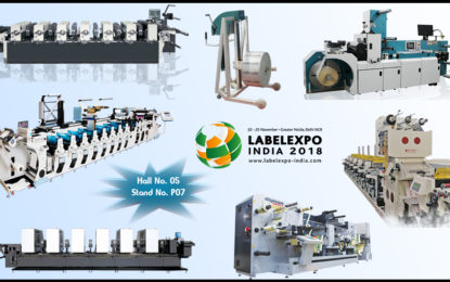 Multiple live machine demo's by VINSAK at Label Expo India