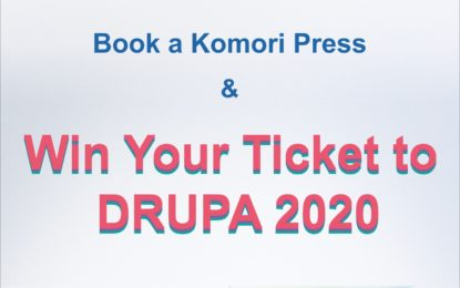Book a Komori Press and get a ticket to Drupa 2020