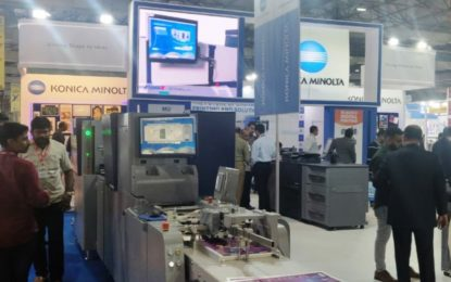 Konica Minolta conducts live demos of latest production printing presses