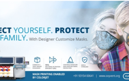 Colorjet launches attractively printed Oxyvent Face Filters to encourage use