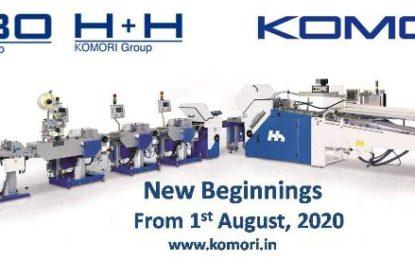Komori-MBO H+H start Indian operations