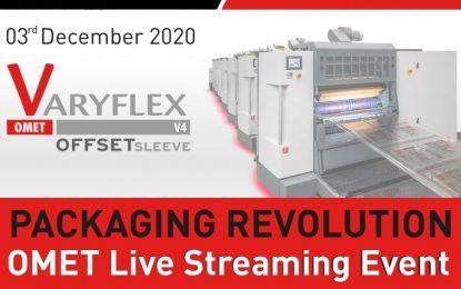 "OMET brings live streaming open house ""Packaging Revolution"""