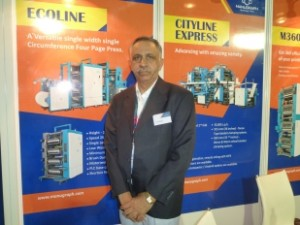 Mr.I.K.Dogra at the Manugraph stall