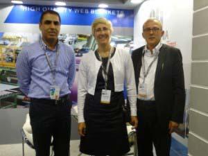 Team Novurania Blankets- Ashish Sharma (Left), Flavia Pellegrini (Center)